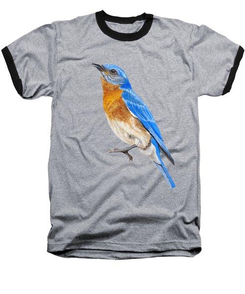 Cute Eastern Bluebird  Baseball T-Shirt