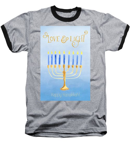 Love And Light For Hanukkah Baseball T-Shirt