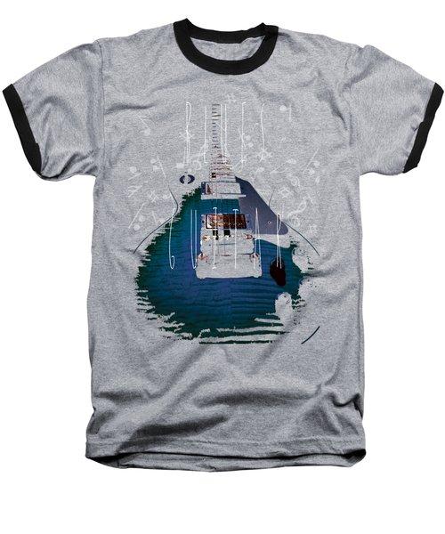 Blues Guitar Music Notes Baseball T-Shirt