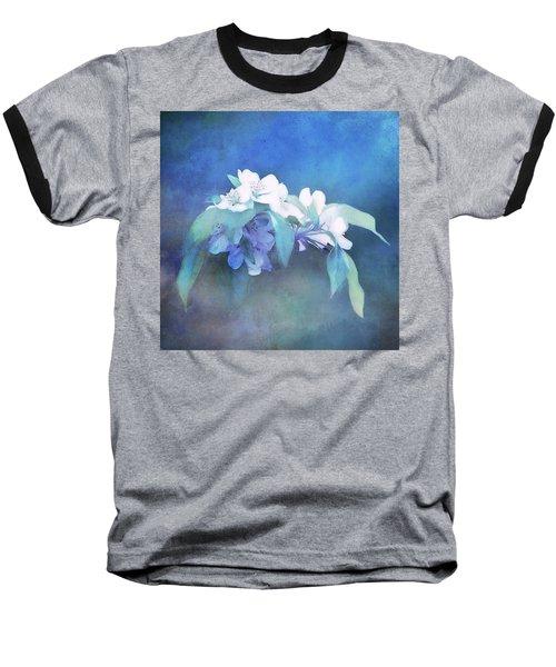Painted Crabapple Blossoms Baseball T-Shirt