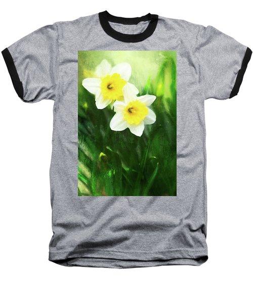 Lovely Painted Daffodil Pair Baseball T-Shirt
