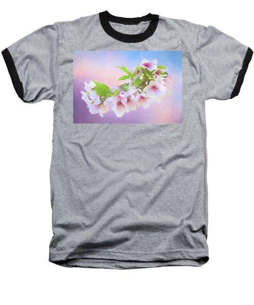 Charming Cherry Blossoms Baseball T-Shirt