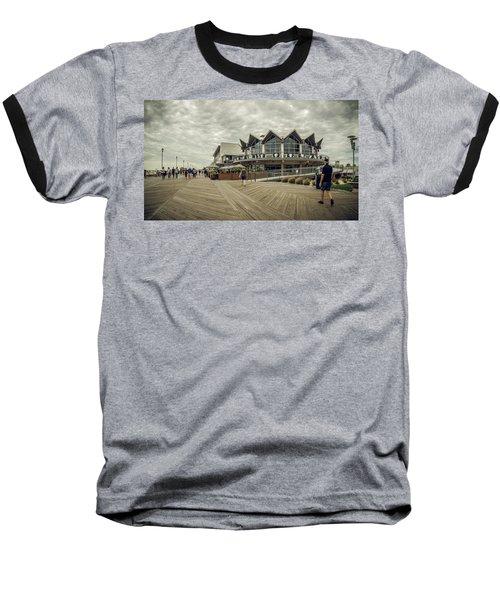 Asbury Park Boardwalk Looking South Baseball T-Shirt