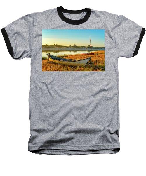 Boats In The Marsh Grass, Ogunquit River Baseball T-Shirt