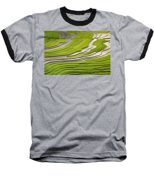 Asian Rice Field Baseball T-Shirt