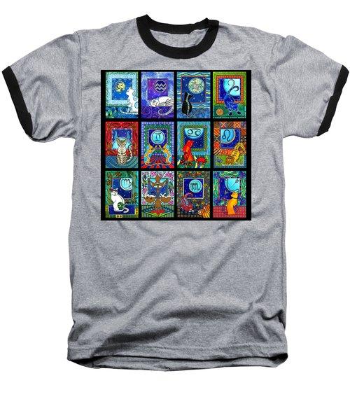 Astrology Cat Zodiacs Baseball T-Shirt