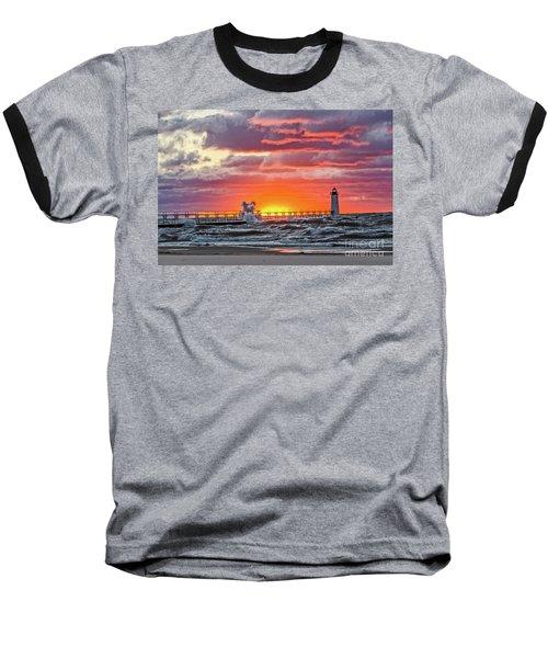 At The Beginning Of The Sunset Baseball T-Shirt