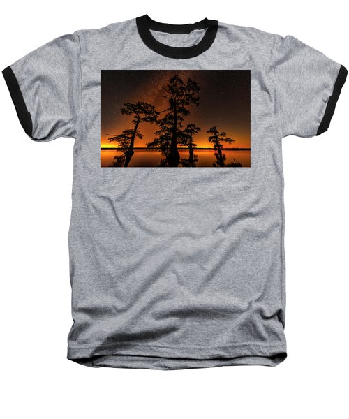 Baseball T-Shirt featuring the photograph Atchafalaya Basin On Fire by Andy Crawford