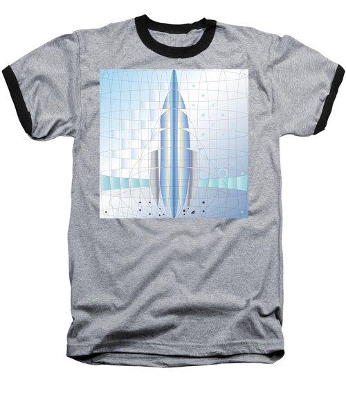 Atomic Rocket Baseball T-Shirt
