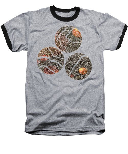 Atoms Ink Artwork Baseball T-Shirt