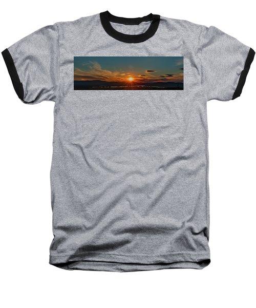Attean Pond Sunset Baseball T-Shirt