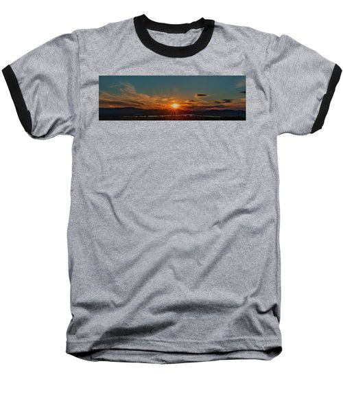 Attean Pond Sunset Baseball T-Shirt