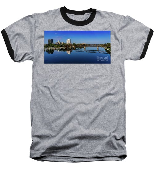 Augusta Ga Savannah River Panorama Baseball T-Shirt