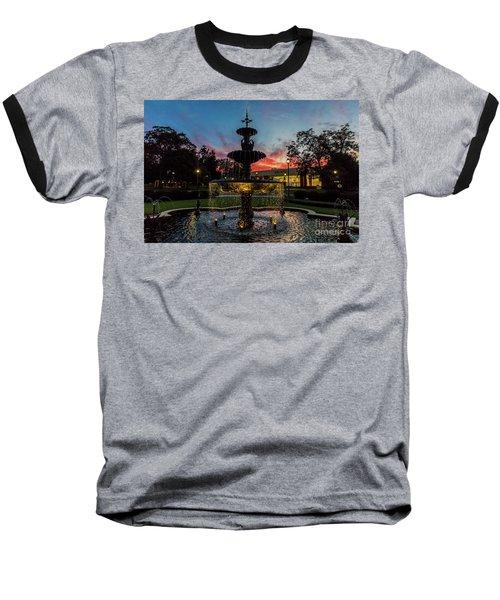 Augusta University Fountain Sunset Ga Baseball T-Shirt