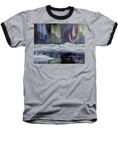 Aurora Borealis Baseball T-Shirt