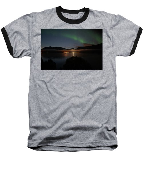 Aurora Northern Polar Light In Night Sky Over Northern Norway Baseball T-Shirt
