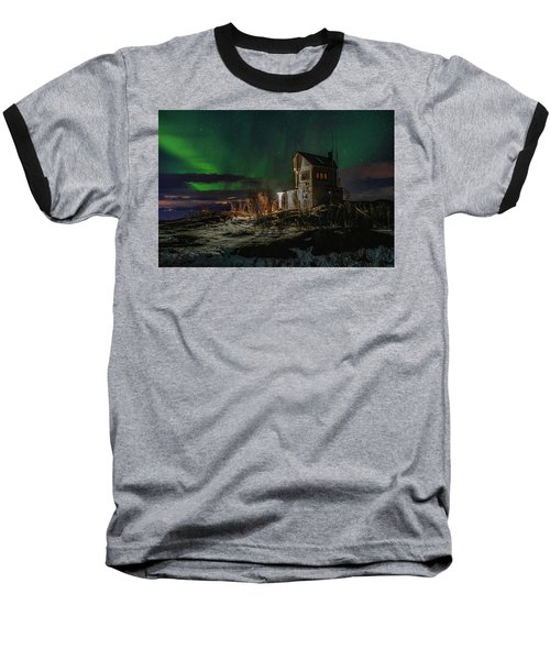Aurora Over The Radio Station Baseball T-Shirt