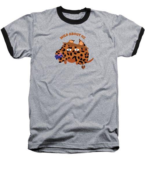 Australia Day Cat And Flag Animal Print Baseball T-Shirt