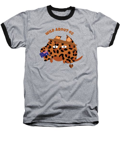 Australia Day Cat And Flag Animal Print Baseball T-Shirt