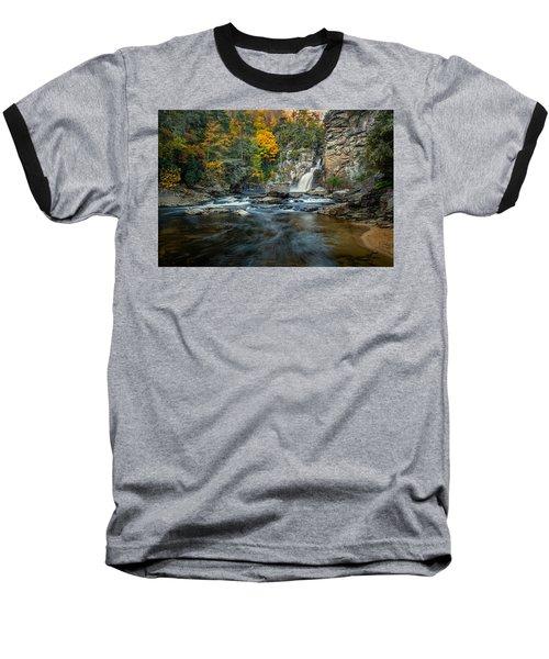 Autumn At Linville Falls - Linville Gorge Blue Ridge Parkway Baseball T-Shirt