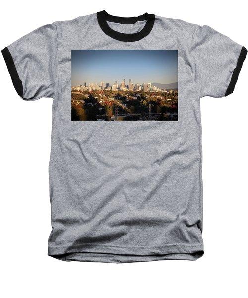 Autumn At The City Baseball T-Shirt