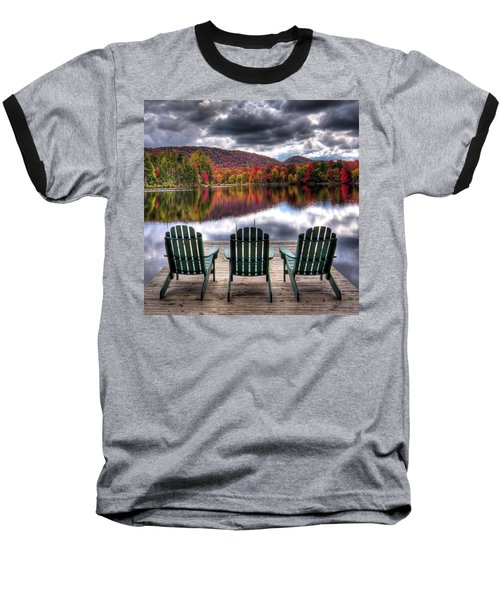 Baseball T-Shirt featuring the photograph Autumn At The Lake by David Patterson