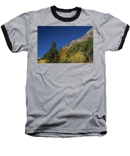 Baseball T-Shirt featuring the photograph Autumn Bella Luna by James BO Insogna