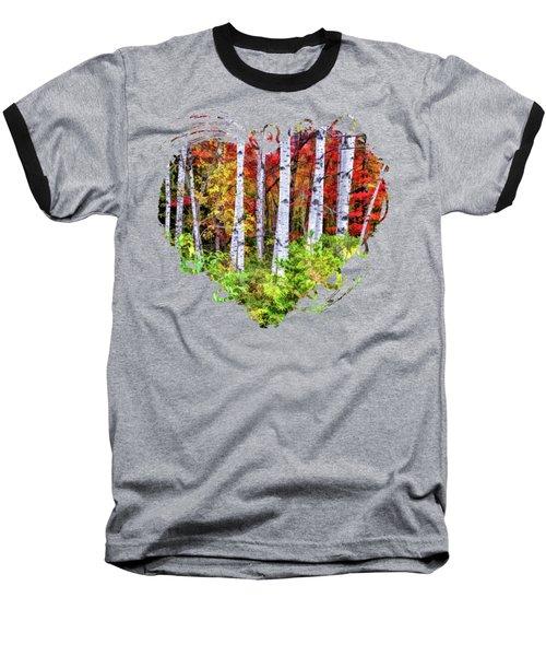 Autumn Birches Baseball T-Shirt