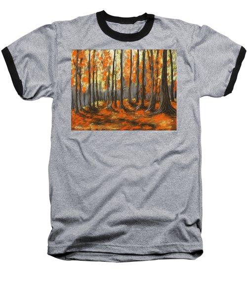 Baseball T-Shirt featuring the painting Autumn Forest by Anastasiya Malakhova