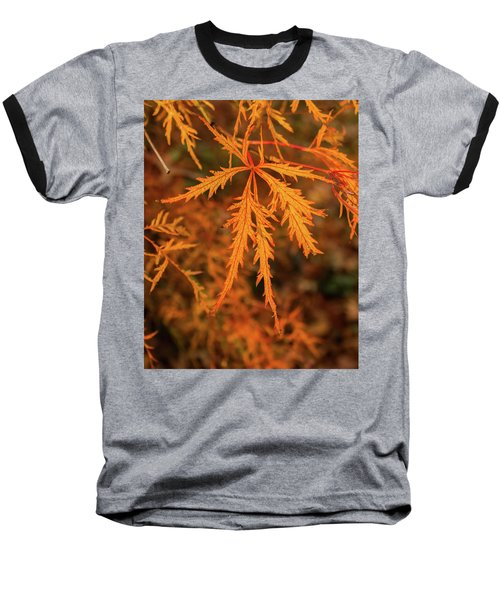 Autumn Leaf Baseball T-Shirt