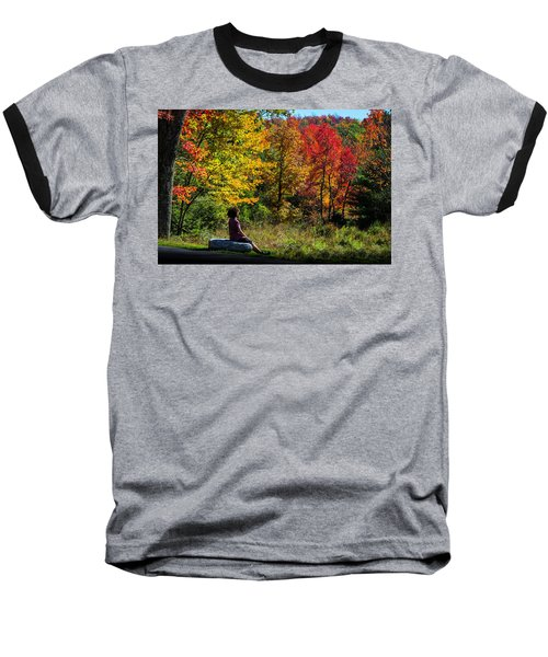 Autumn Leaves In The Catskill Mountains Baseball T-Shirt
