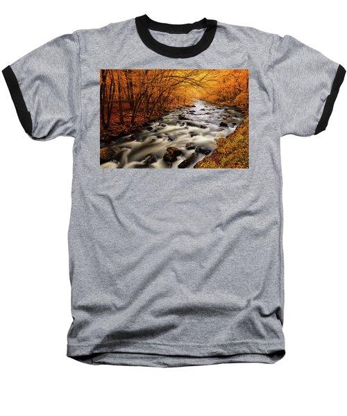 Autumn On The Little River Baseball T-Shirt