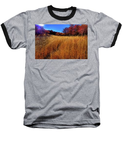 Baseball T-Shirt featuring the photograph Autumn Path by David Patterson