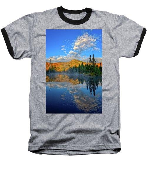 Autumn Sky, Mountain Pond Baseball T-Shirt