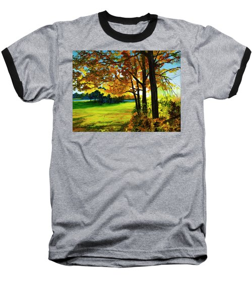 Sunset Over The Park Baseball T-Shirt