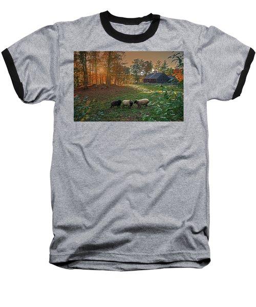 Autumn Sunset At The Old Farm Baseball T-Shirt
