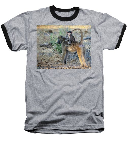 Baboon And Baby Baseball T-Shirt