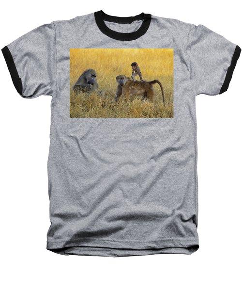 Baboons In Botswana Baseball T-Shirt