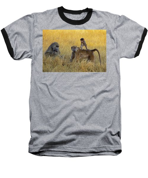 Baboons In Botswana Baseball T-Shirt