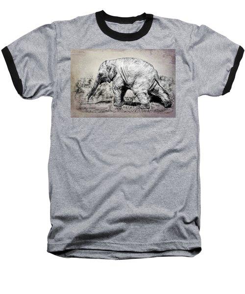 Baby Elephant Walk Baseball T-Shirt