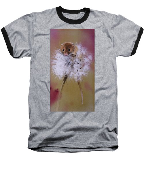 Baby Mouse On Dandelion Baseball T-Shirt
