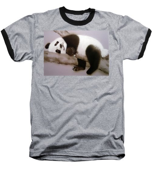 Baby Panda In Sweet Dream Baseball T-Shirt