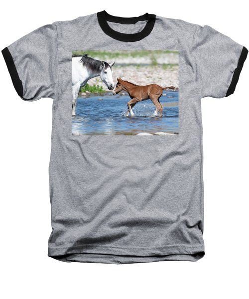 Baby's First River Trip Baseball T-Shirt