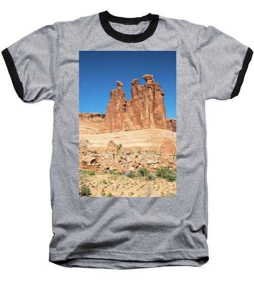 Balanced Rocks In Arches Baseball T-Shirt