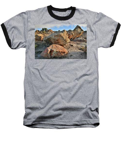 Balanced Rocks In Bentonite Site Baseball T-Shirt