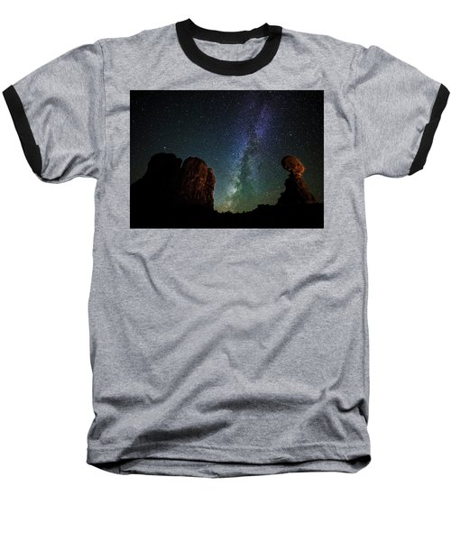 Baseball T-Shirt featuring the photograph Balancing Act by Andy Crawford