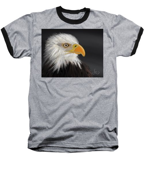 Baseball T-Shirt featuring the pastel Bald Eagle by Fe Jones