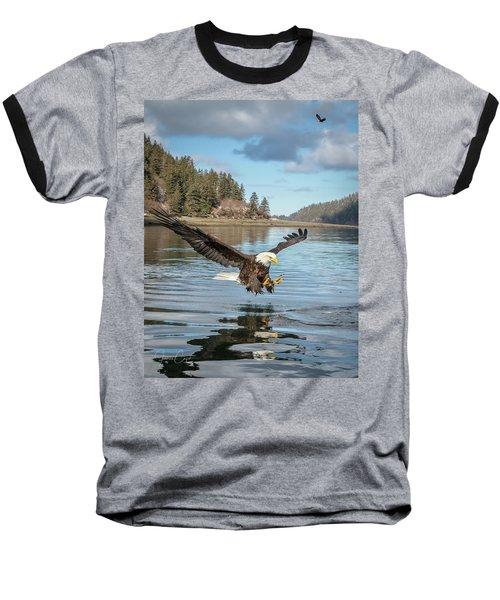 Bald Eagle Fishing In Sadie Cove Baseball T-Shirt