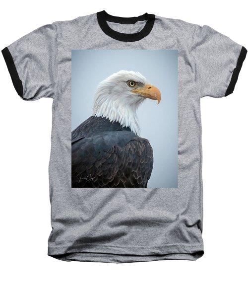 Bald Eagle Profile Baseball T-Shirt
