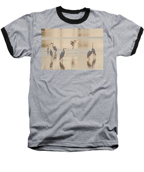 Ballet Of The Egrets Baseball T-Shirt